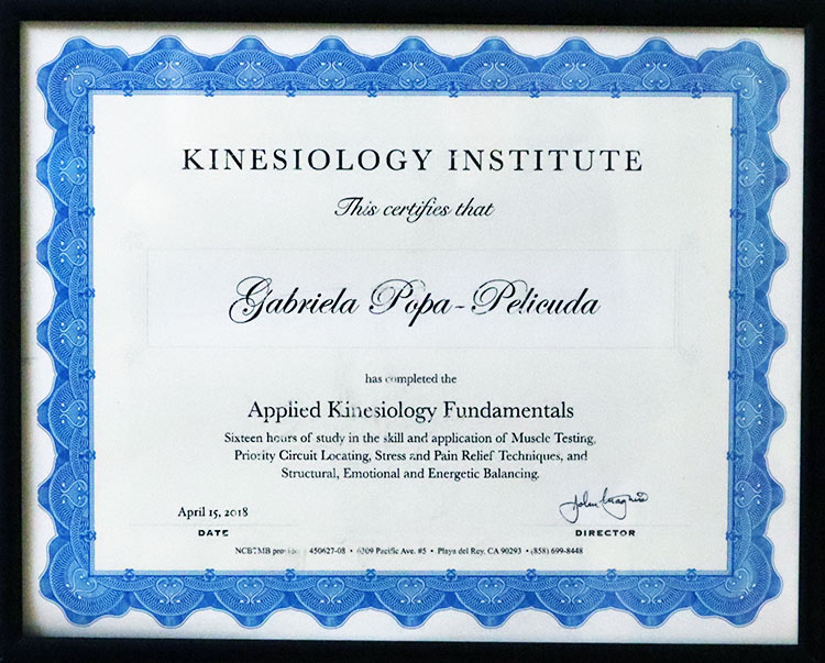 Kinesiology Certificate