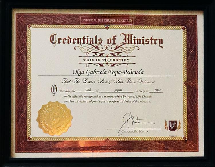 Life Church Certificate